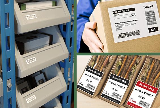 DK tapes die-cut labels