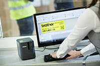 Brother PT-P900W labelprinter met P-touch Editor label design software