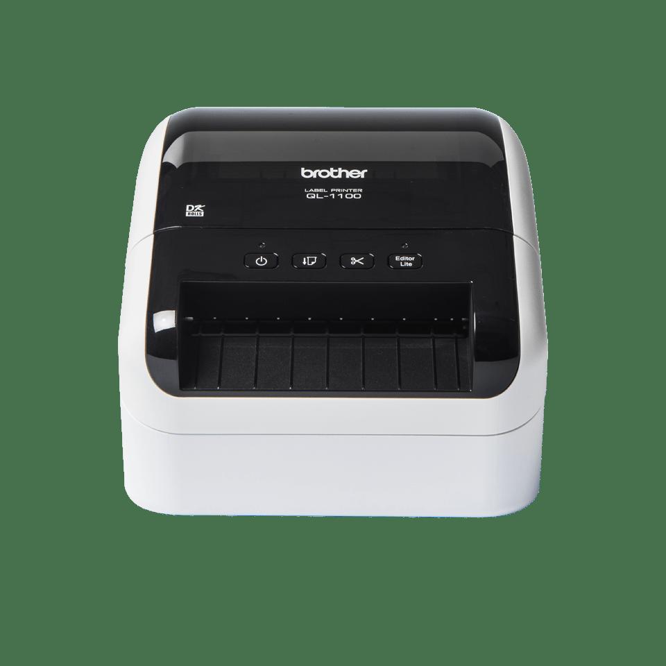 QL-1100 imprimante d'étiquettes de bureau 4 pouces / 102 mm pour larges étiquettes d'expédition avec codes-barres 2