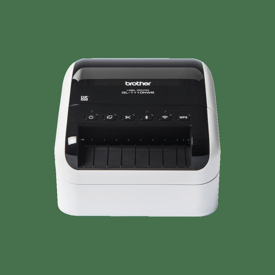 QL-1110NWB 4 inch / 102 mm desktop labelprinter voor brede verzendlabels met barcodes
