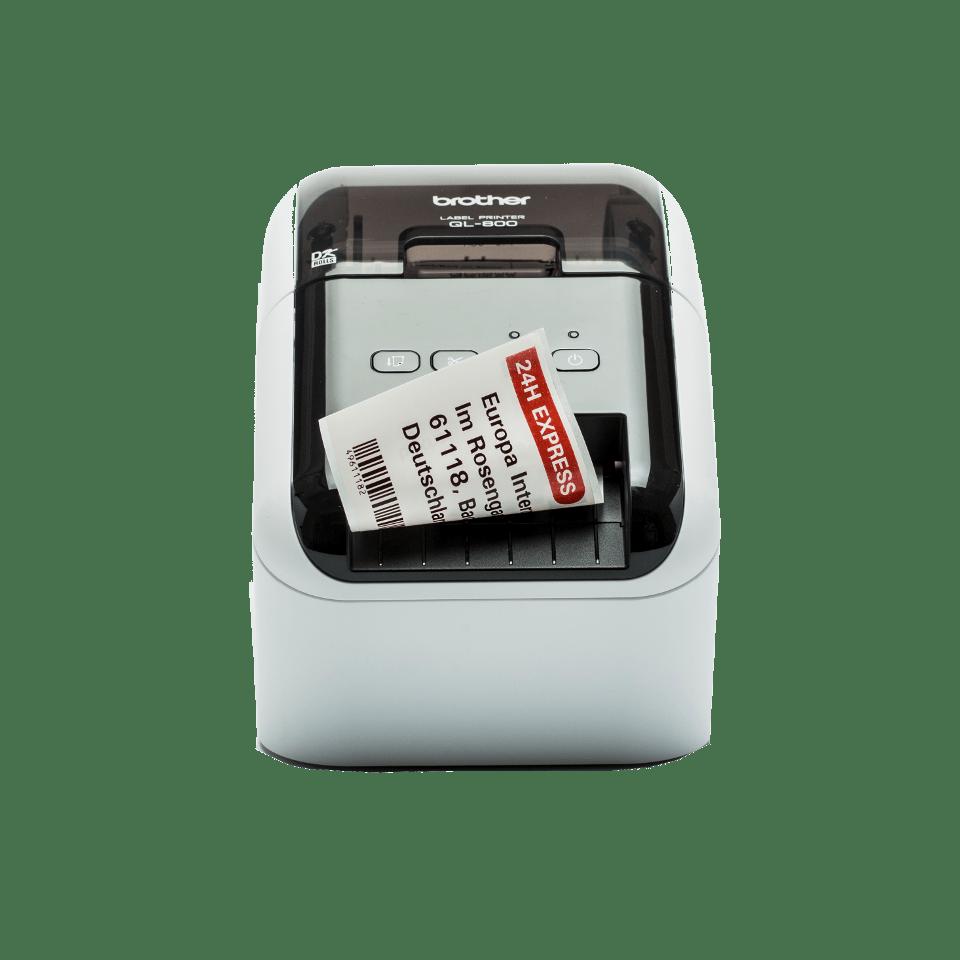 QL-800 imprimante d'étiquettes professionnelle 62mm - impression en rouge et noir
