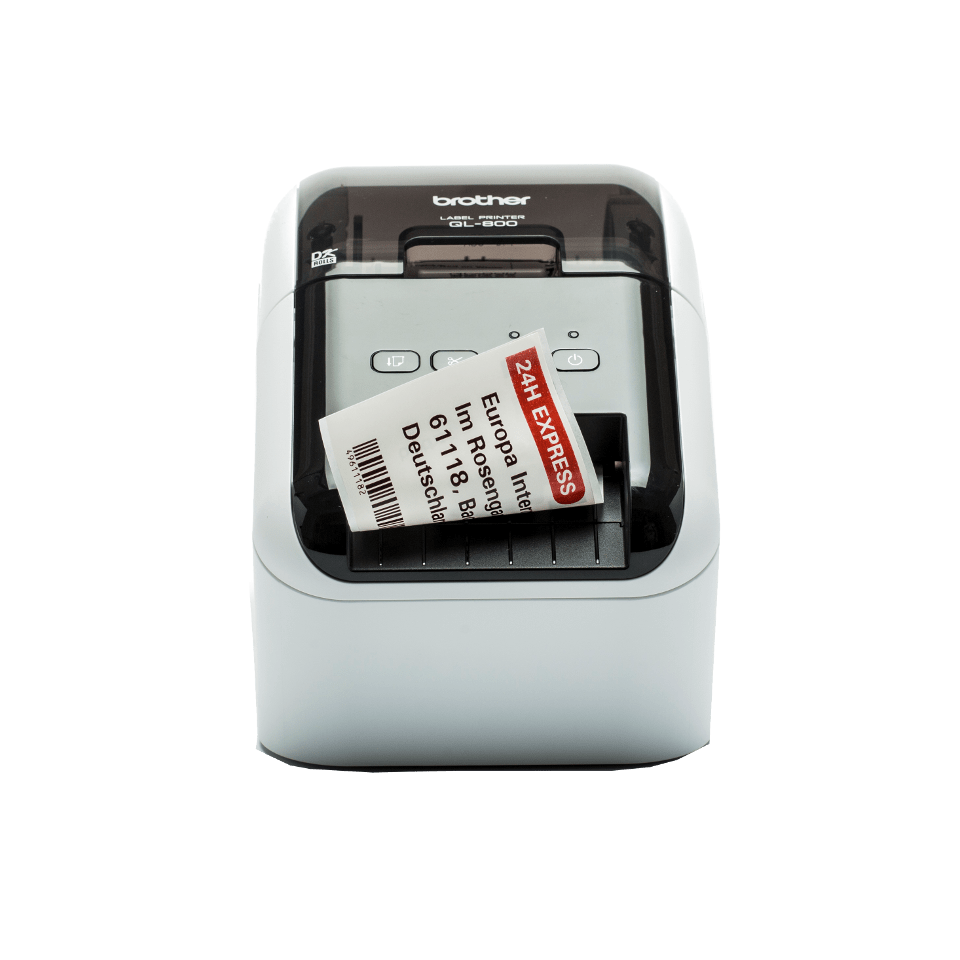 QL-800 62mm desktop labelprinter voor professionele labels in zwart en rood