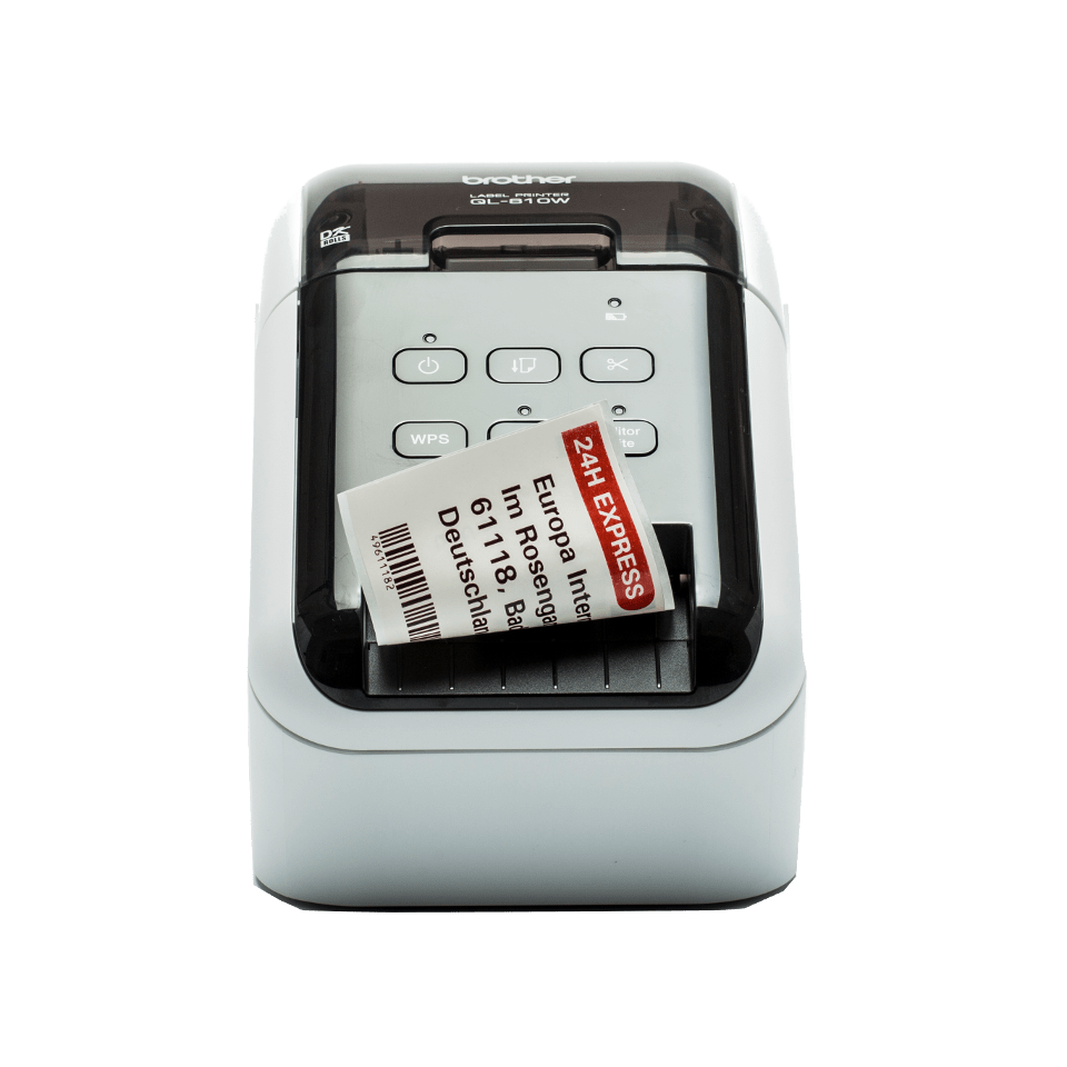 QL-810W professionele 62mm labelprinter - print in zwart en rood