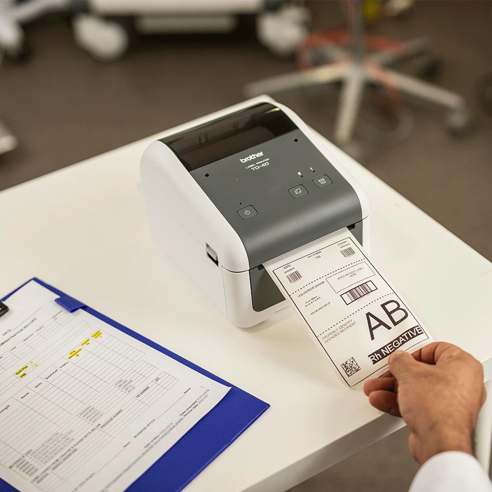 TD-4410D imprimante d'étiquettes industrielle 4 pouces 6