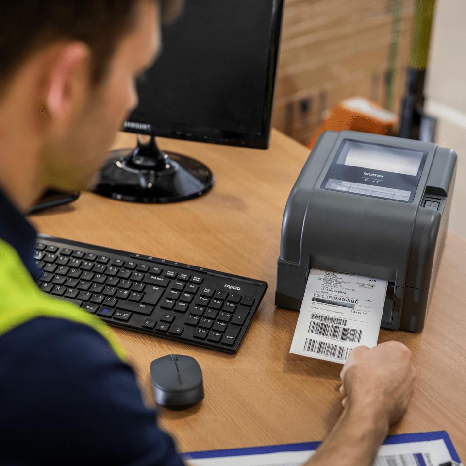 TD-4420TN imprimante d'étiquettes de bureau 4 pouces - transfert thermique 6
