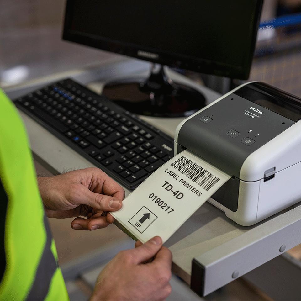 TD-4520DN imprimante d'étiquettes de bureau 4 pouces - thermique directe 5