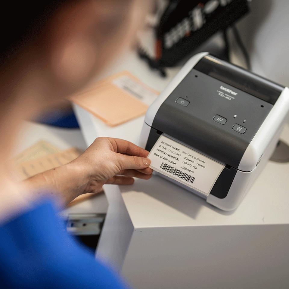TD-4520DN imprimante d'étiquettes de bureau 4 pouces - thermique directe 6