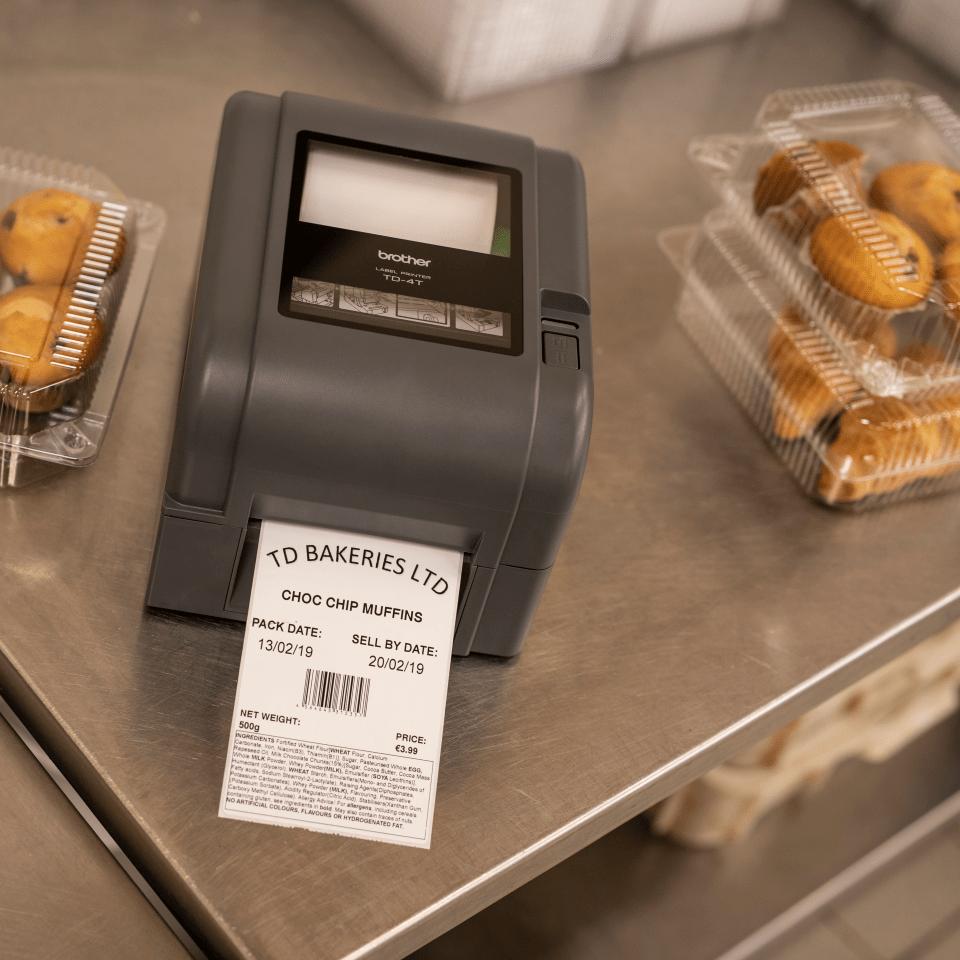 TD-4520TN Thermo-transfer labelprinter met Ethernet 8