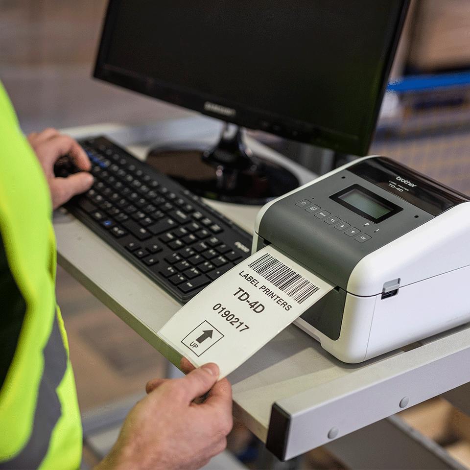 TD-4550DNWB imprimante d'étiquettes réseau industrielle 4 pouces avec Bluetooth 7