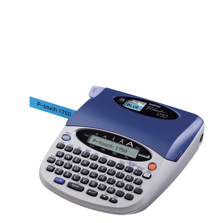 PT-1750 P-touch tape labelprinter