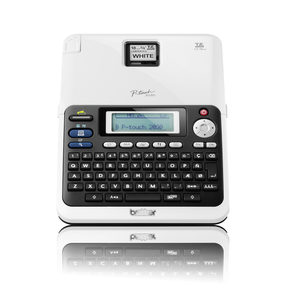 PT-2030 P-touch tape labelprinter