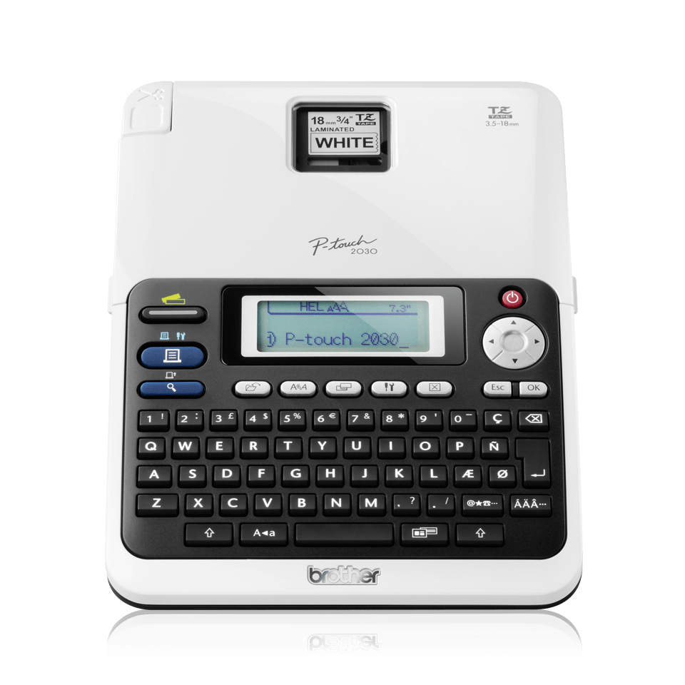 PT-2030VP P-touch étiqueteuse à ruban 2