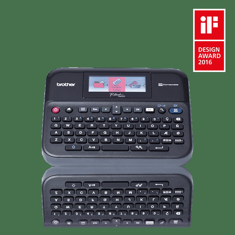 PT-D600VP imprimante d'étiquettes de bureau P-touch 24mm 2