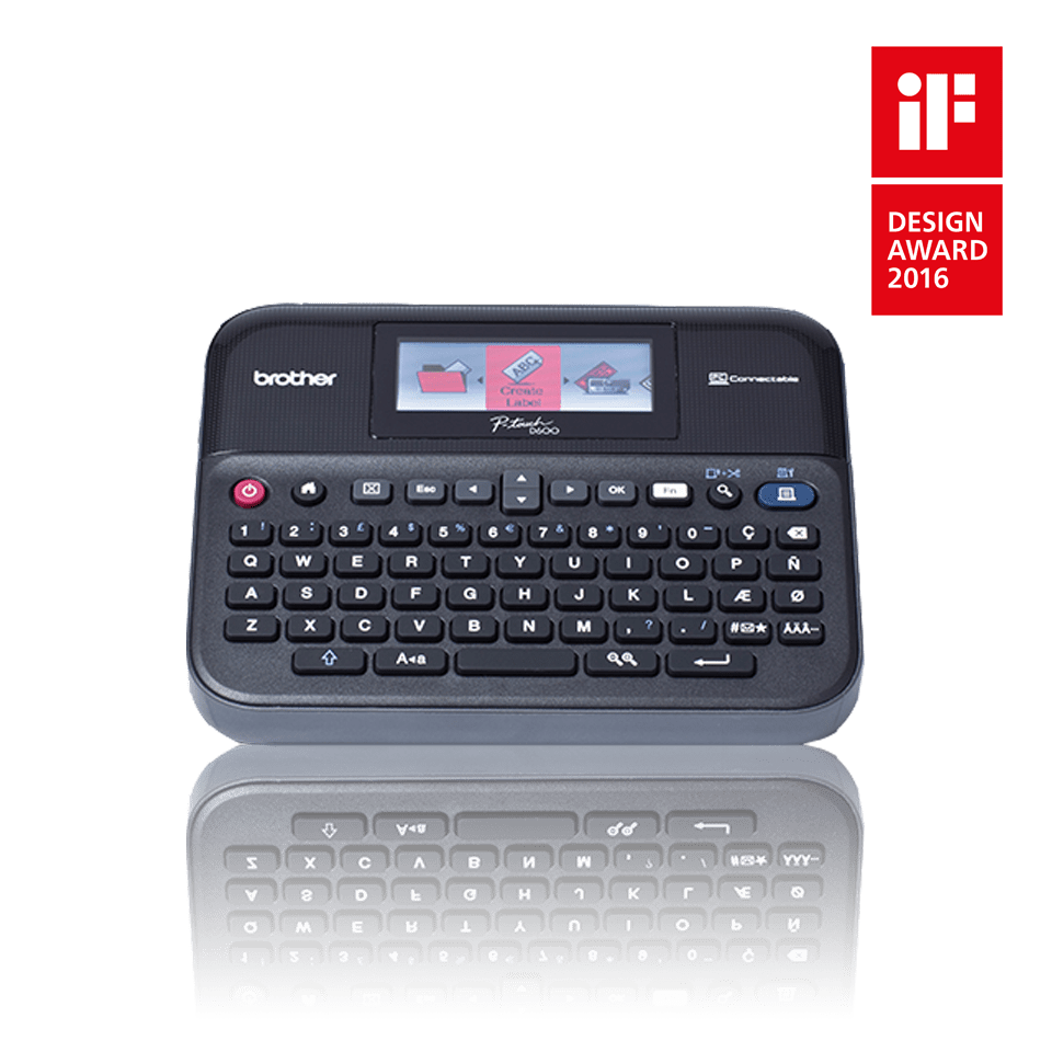 PT-D600VP 24mm P-touch desktop labelprinter 2