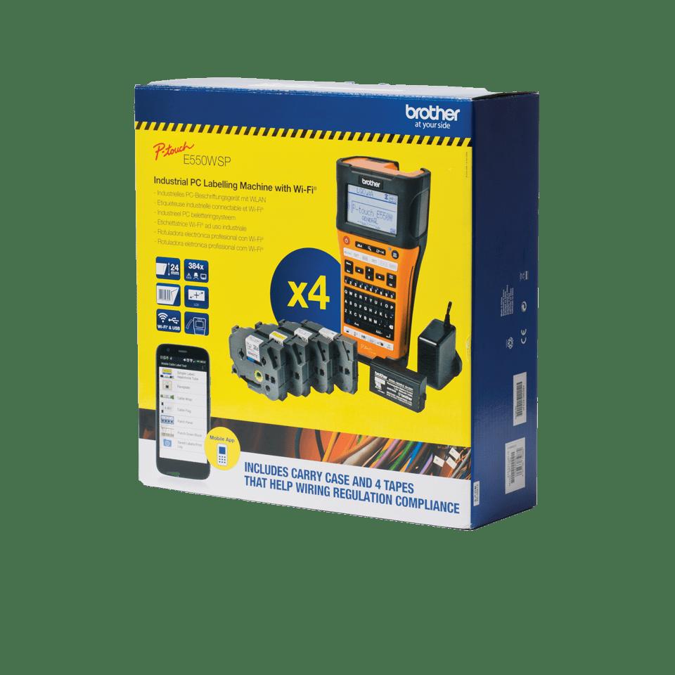 PTE550WSP draagbare labelprinter voor elektriciens met Wifi-aansluiting 2