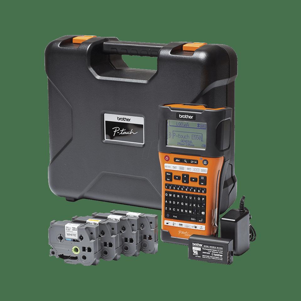 PT-E550WSP draagbare labelprinter voor elektriciens met Wifi-aansluiting