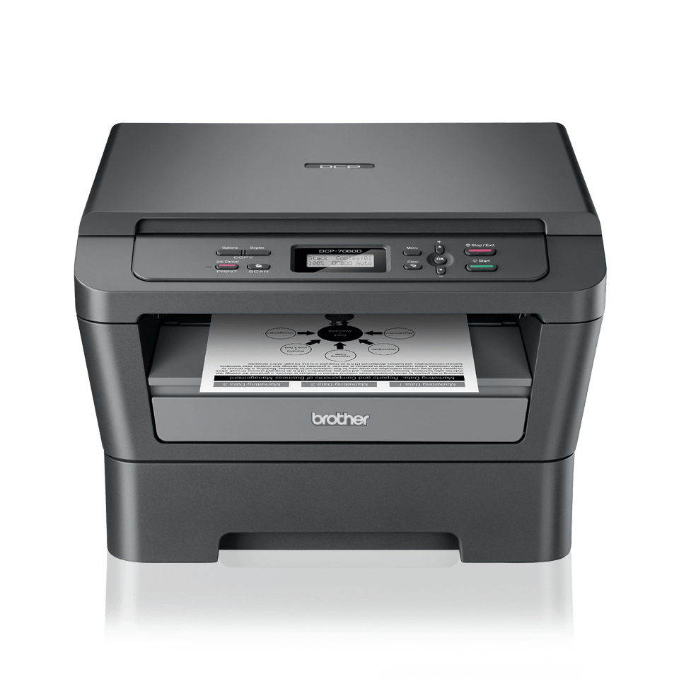 DCP-7060D all-in-one mono laser printer 2