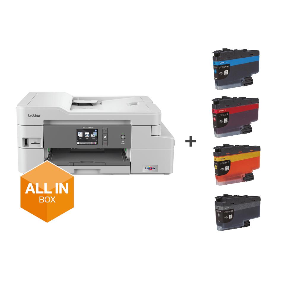 DCP-J1100DW All in Box kleuren inkjet all-in-one printer + 4 inktpatronen 7