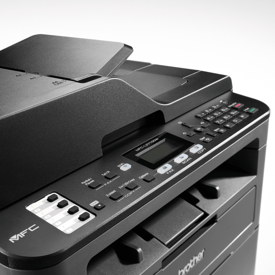 MFC-L2710DW imprimante 4-en-1 laser monochrome compacte et wifi 5