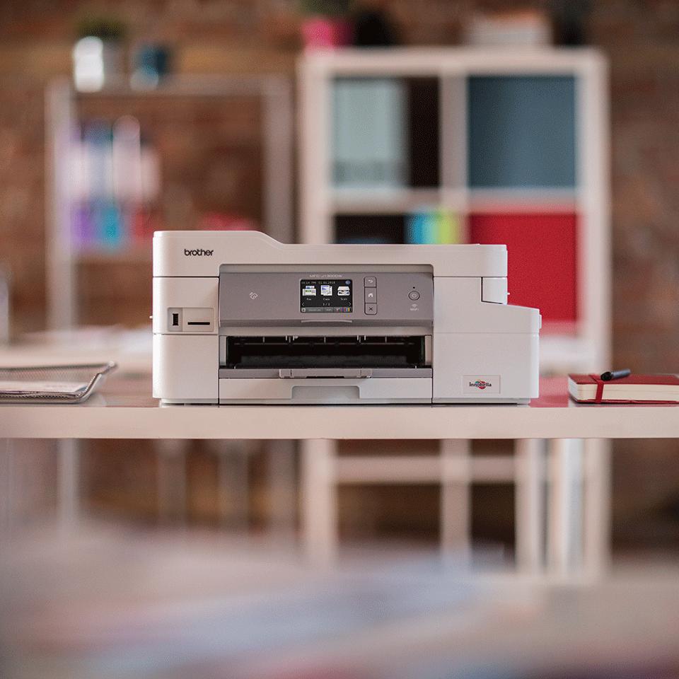 MFC-J1300DW All in Box imprimante jet d'encre couleur multifonctions + 4 cartouches d'encre 3