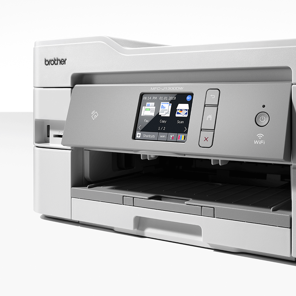 MFC-J1300DW All in Box imprimante jet d'encre couleur multifonctions + 4 cartouches d'encre 6