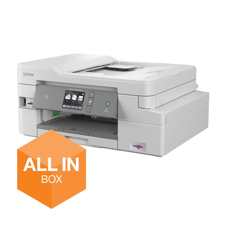 MFC-J1300DW All in Box imprimante jet d'encre couleur multifonctions + 4 cartouches d'encre
