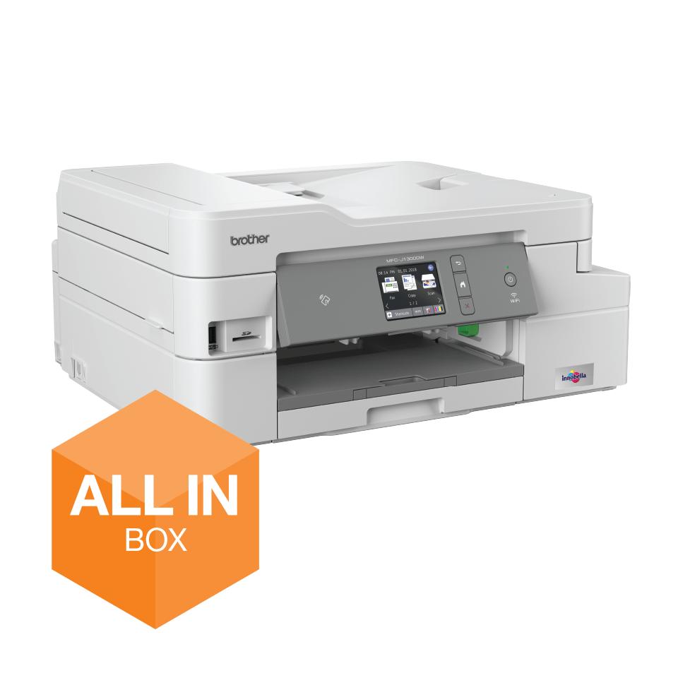 MFC-J1300DW All in Box imprimante jet d'encre couleur multifonctions + 4 cartouches d'encre 2