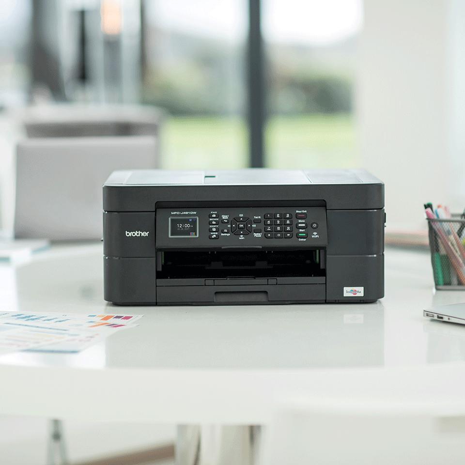 MFC-J491DW 4-in-1 kleuren inkjet printer, Wifi 4