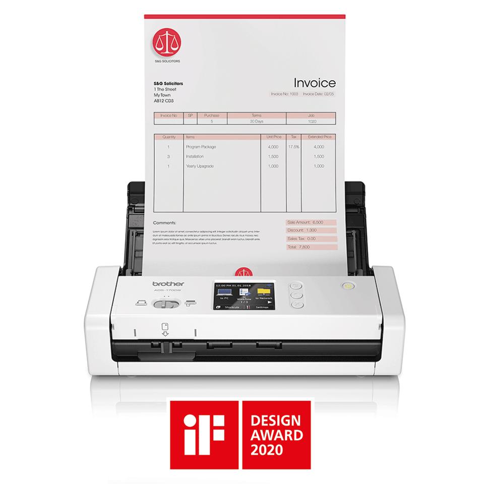 ADS-1700W Slimme, compacte documentscanner 4