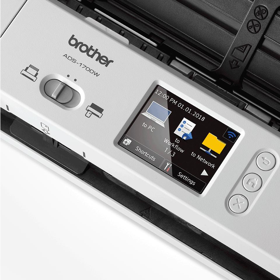 ADS-1700W Slimme, compacte documentscanner 8