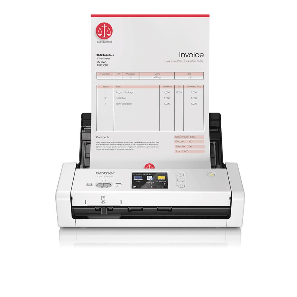 ADS-1700W Slimme, compacte documentscanner