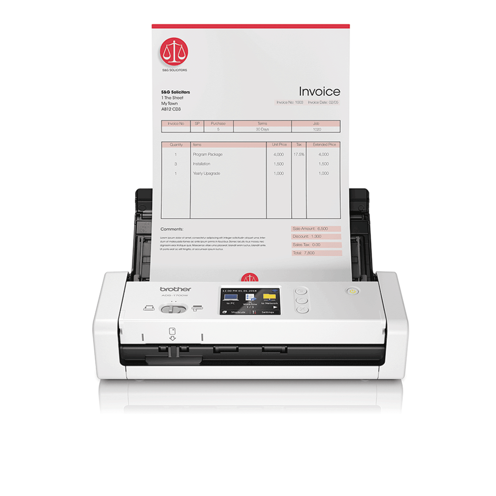ADS-1700W Slimme, compacte documentscanner