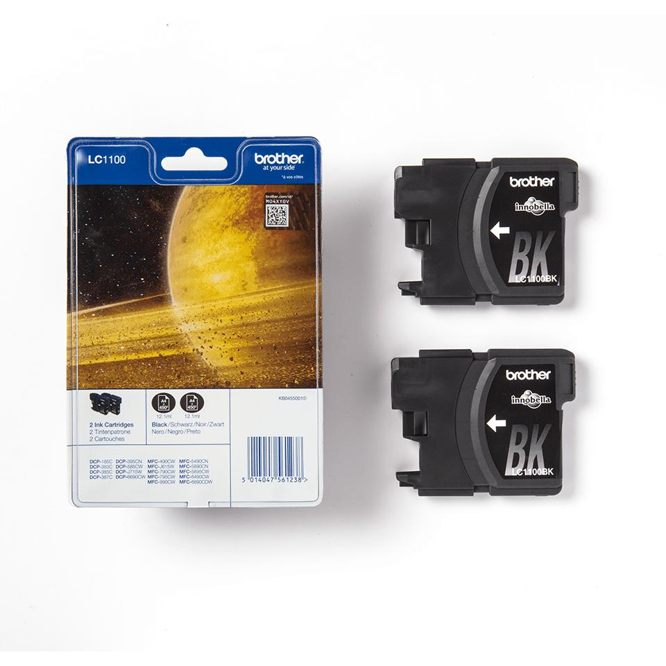 Brother LC1100BKBP2 inktpatronen pack - 2x zwart 3