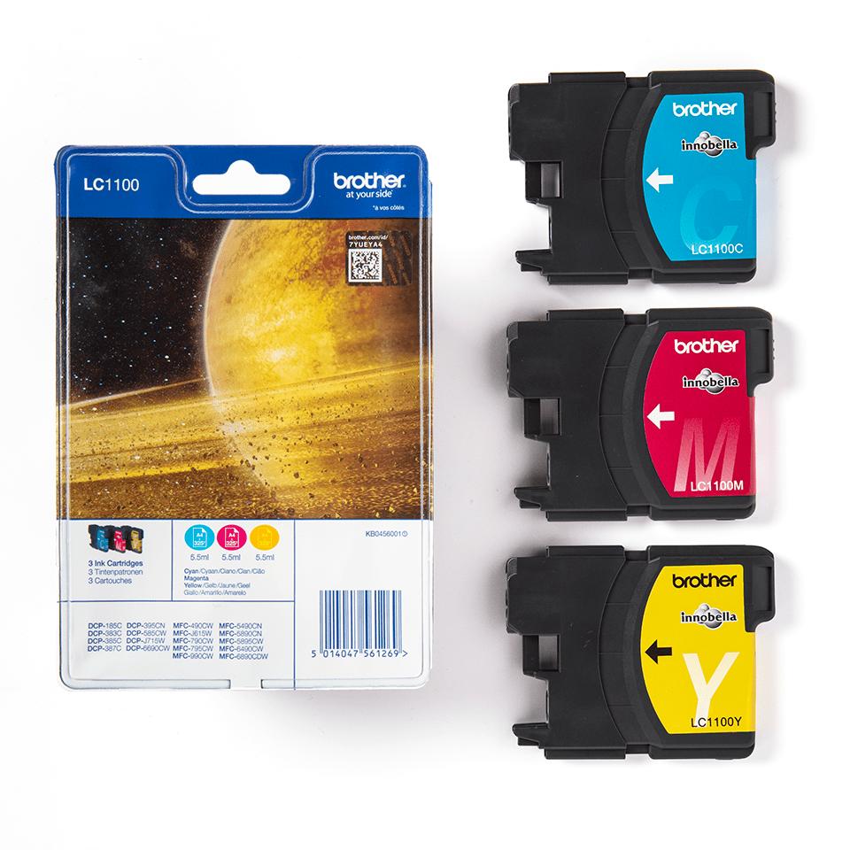 Brother LC1100RBWBP inktpatronen pack - cyaan, magenta en geel 3