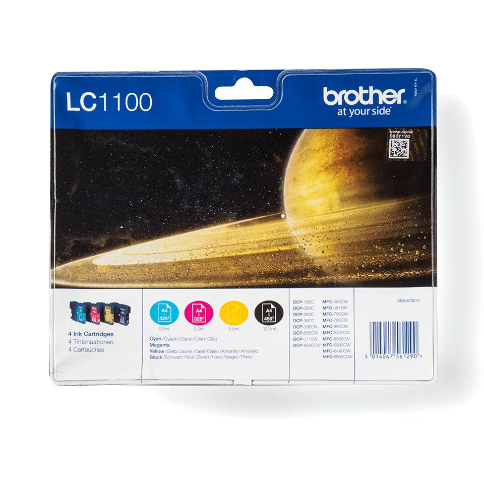 Origineel Brother inktpatronen pack LC1100VALBP - cyaan, magenta, geel en zwart