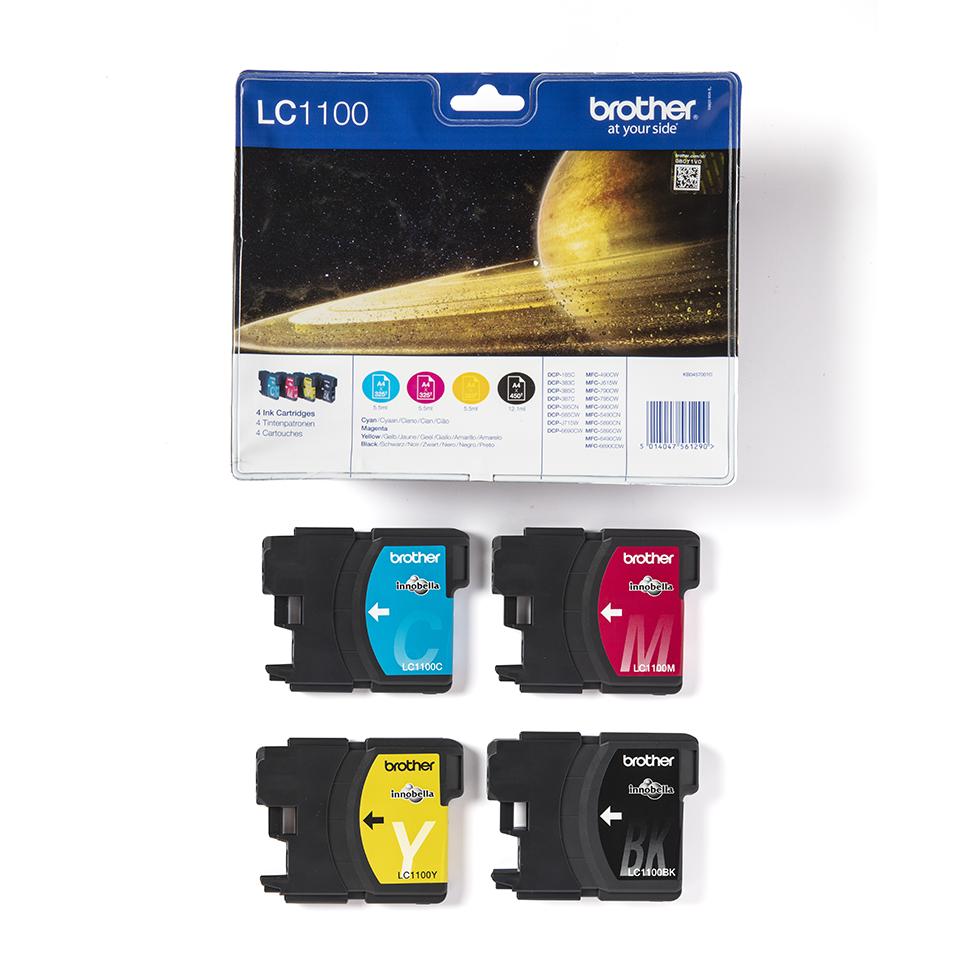 Brother LC1100VALBP pack de cartouches d'encre - cyan, magenta, jaune et noir 3