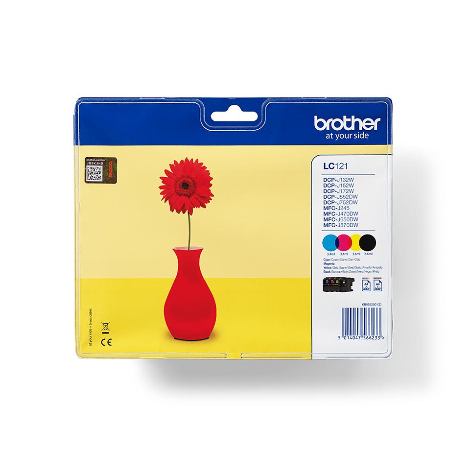 Pack de cartouches d'encre LC121VALBP Brother original – cyan, magenta, jaune et noir