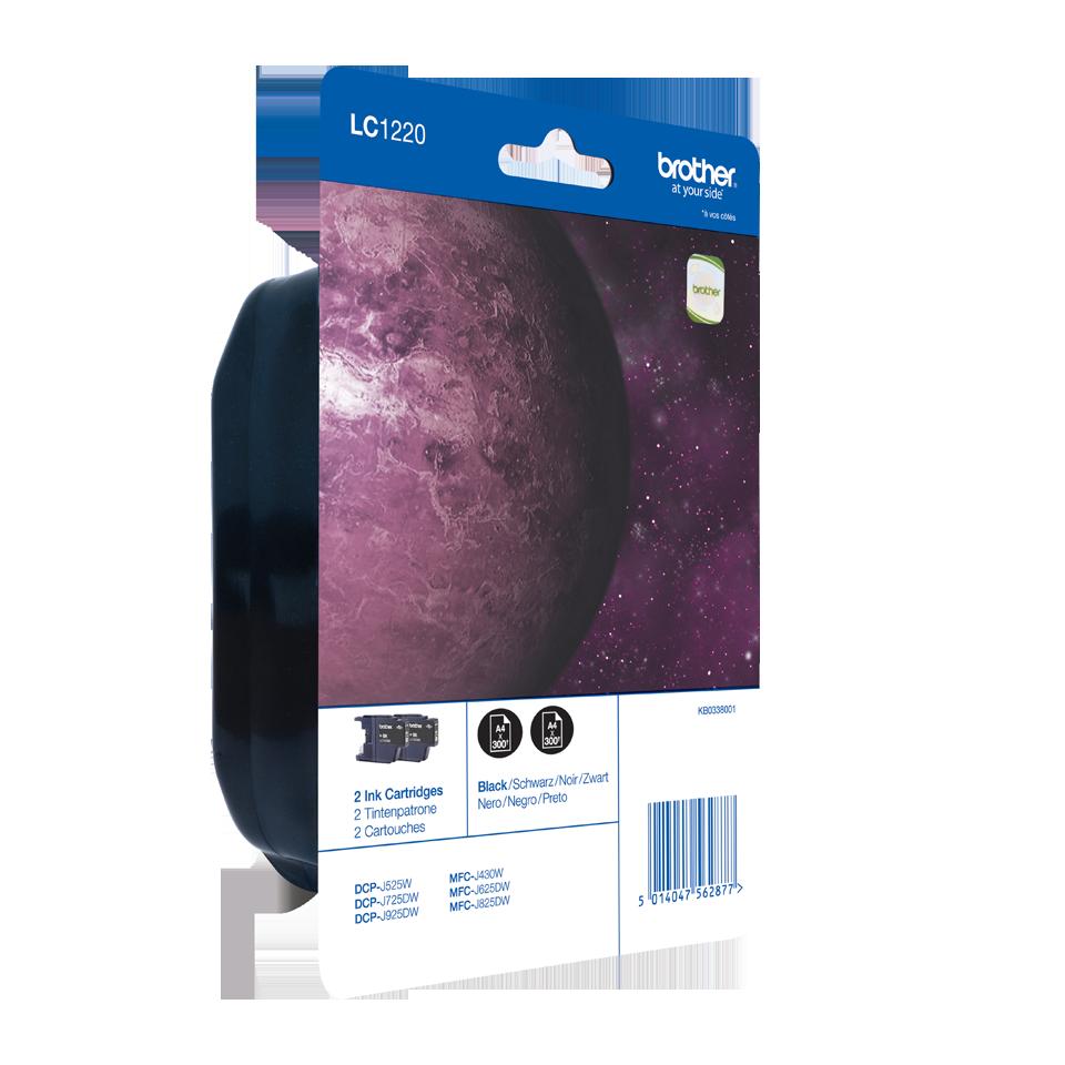 Pack de cartouches d'encre LC1220BKBP2 Brother original – noir (x2) 2