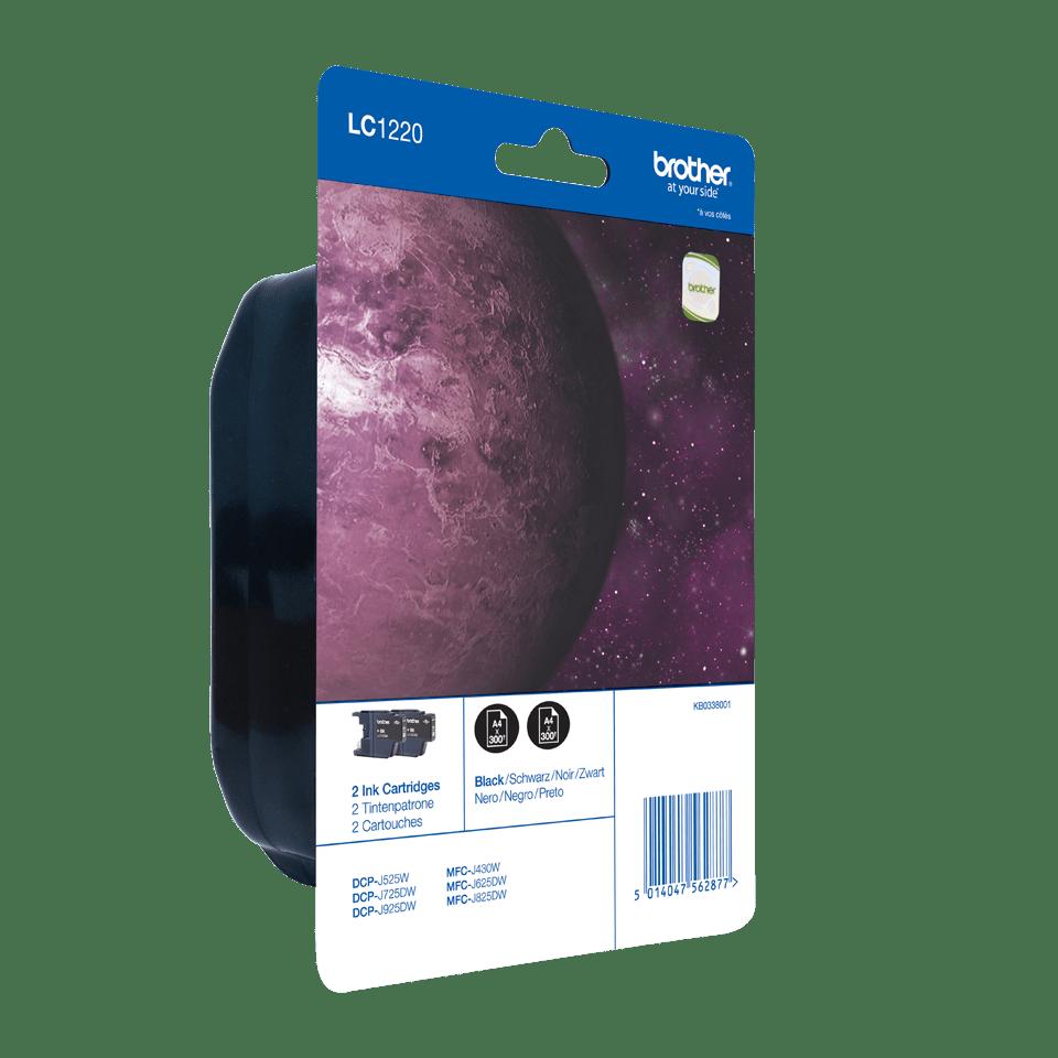 Pack de cartouches d'encre LC1220BKBP2 Brother original – noir (x2) 1