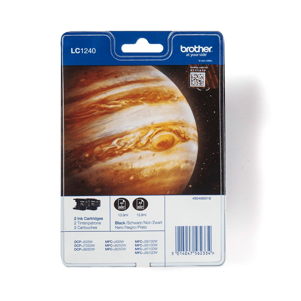 Pack de cartouches d'encre LC1240BKBP2 Brother original – noir (x2)
