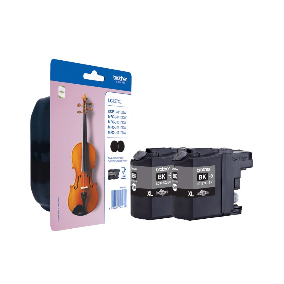 Brother LC127XLBKBP2 inktpatronen pack - 2x zwart