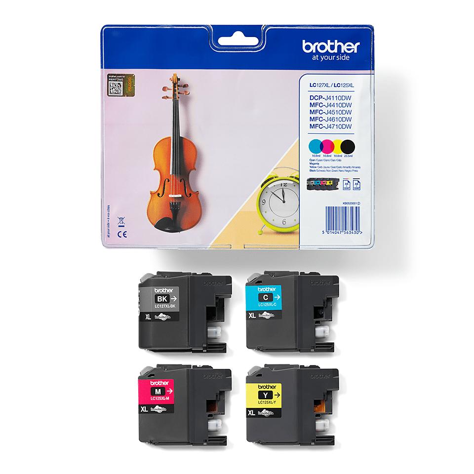 Pack de cartouches d'encre LC127XLVALBP Brother original – cyan, magenta, jaune et noir – haut rendement