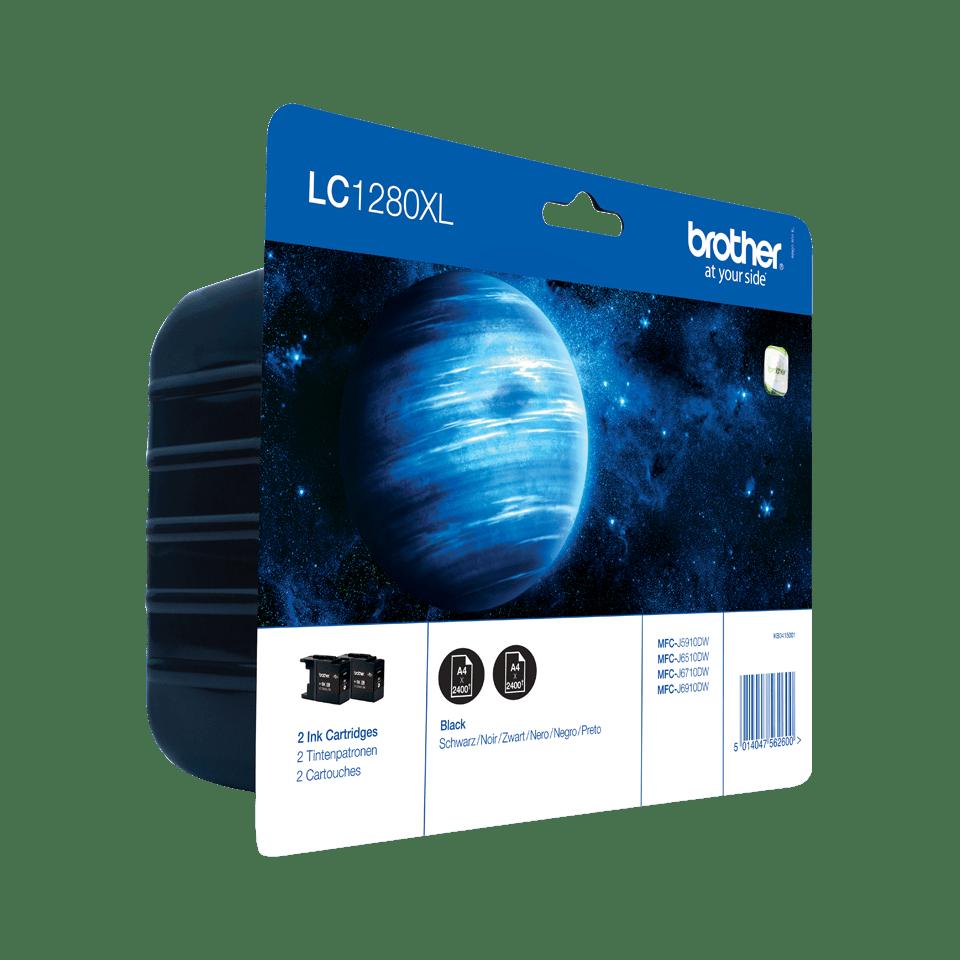 Origineel Brother inktpatronen pack LC1280XLBKBP2 - zwart (x2) - hoog rendement