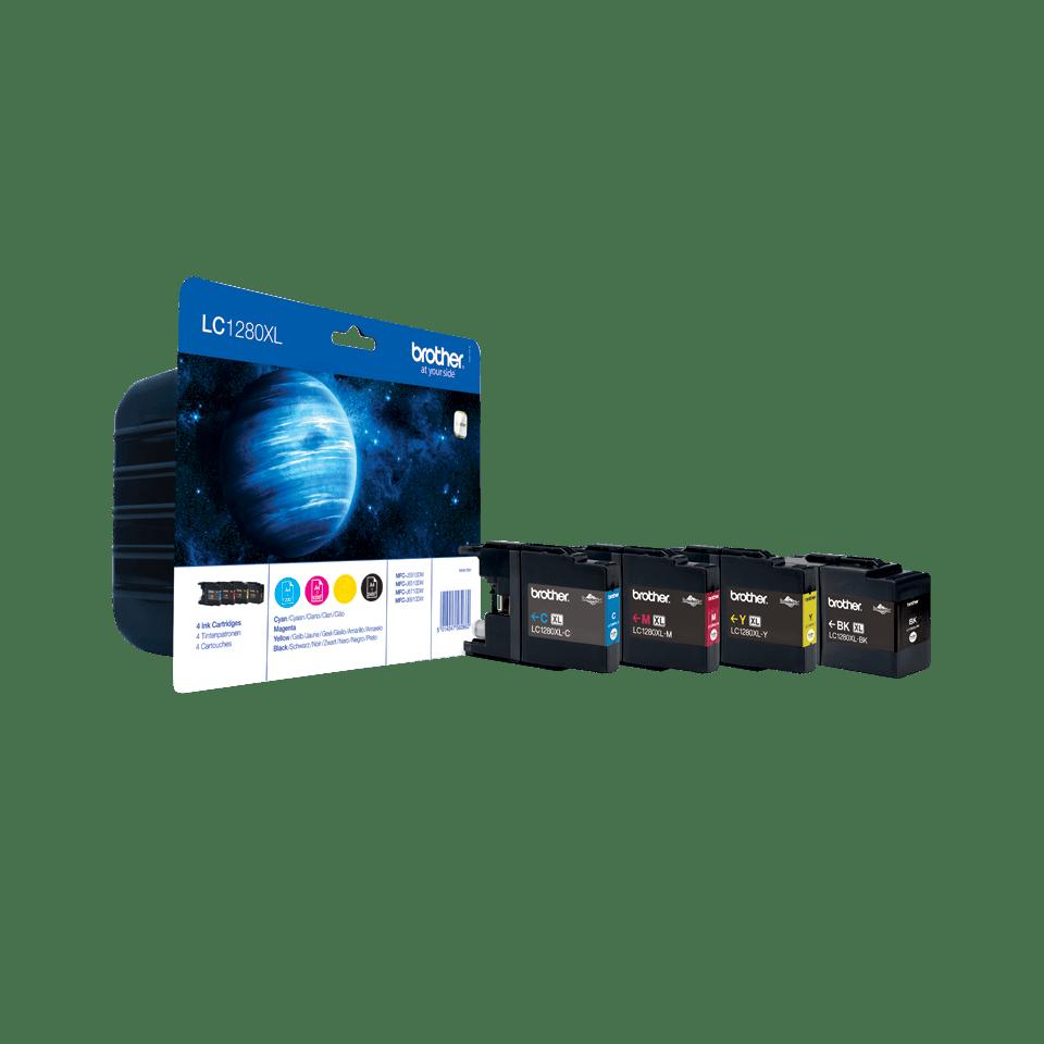 Pack de cartouches d'encre LC1280XLVALBP Brother original – cyan, magenta, jaune et noir – haut rendement