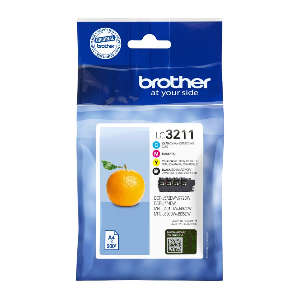 Origineel Brother inktpatronen pack LC3211VAL - cyaan, magenta, geel en zwart