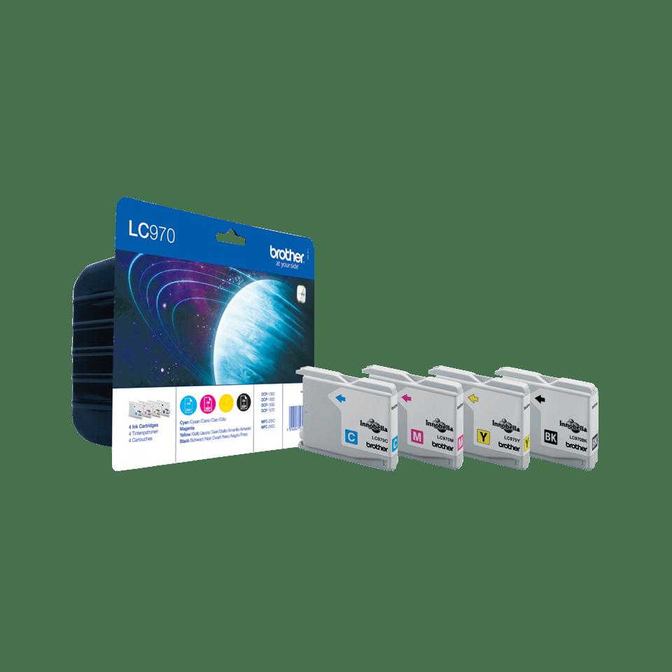 Origineel Brother inktpatronen pack LC970VALBP - cyaan, magenta, geel en zwart 0