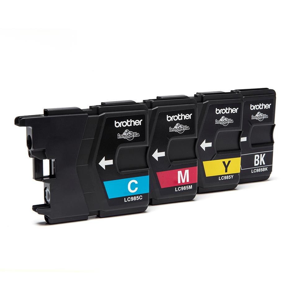 Brother LC985VALBP inktpatronen pack - cyaan, magenta, geel en zwart 2