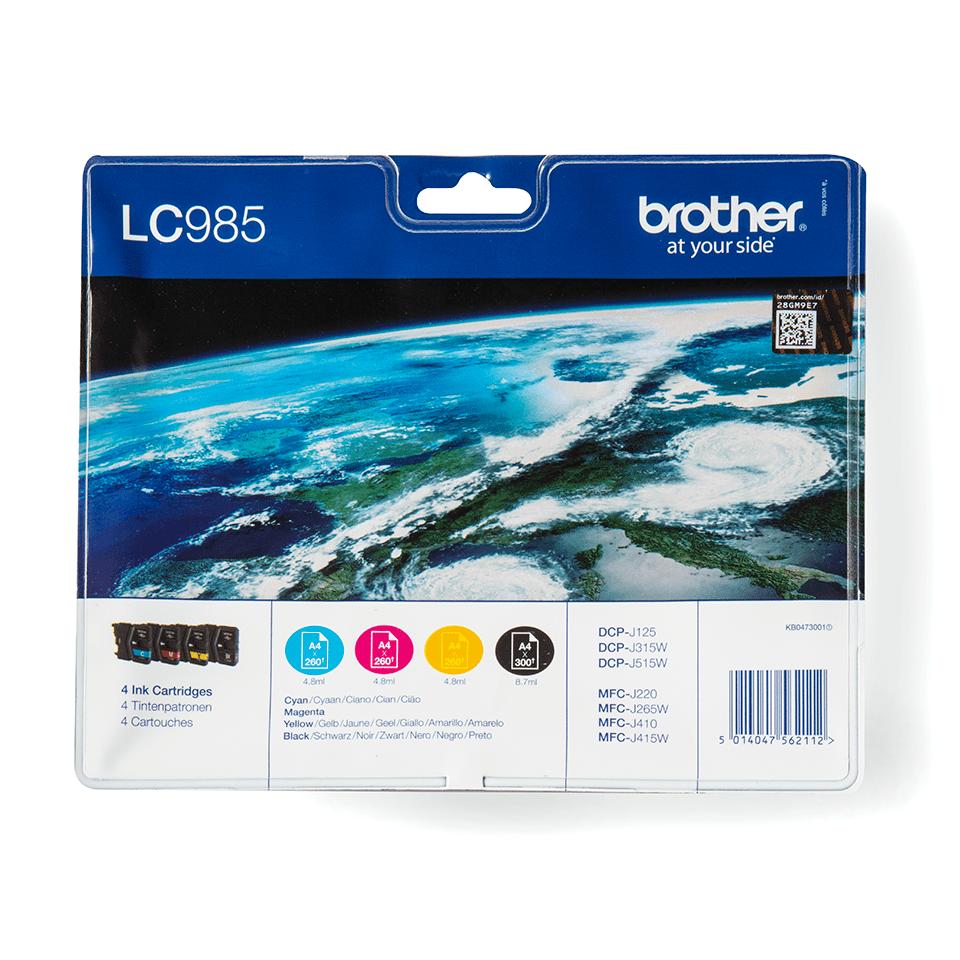 Brother LC985VALBP inktpatronen pack - cyaan, magenta, geel en zwart