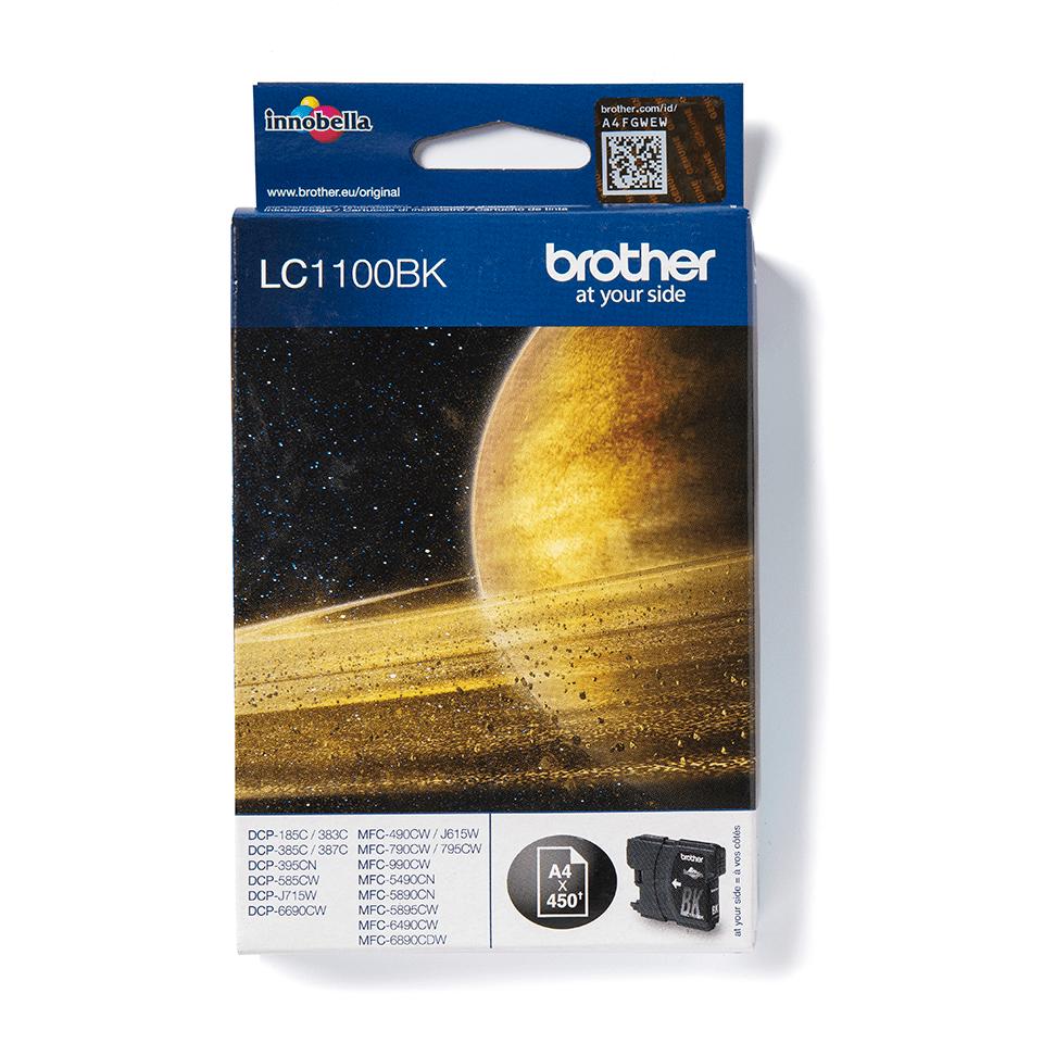 Origineel Brother inktpatroon LC1100BK - zwart