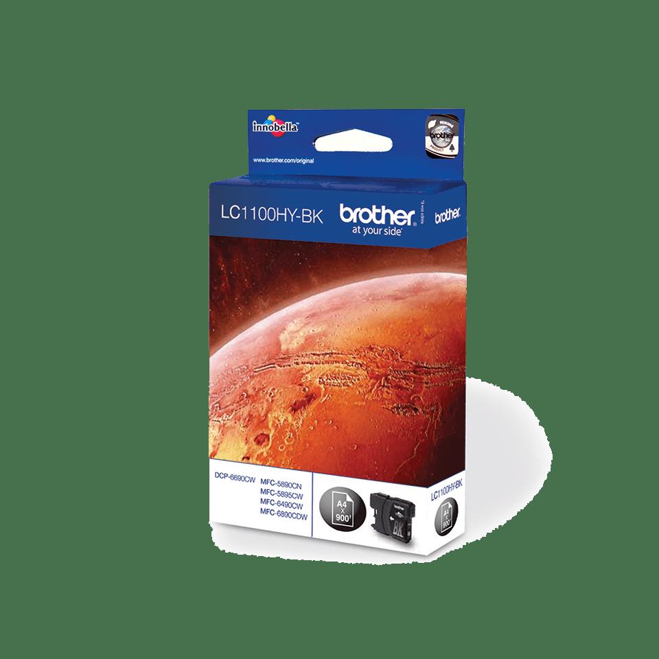 Origineel Brother inktpatroon LC1100HYBK - zwart - hoog rendement
